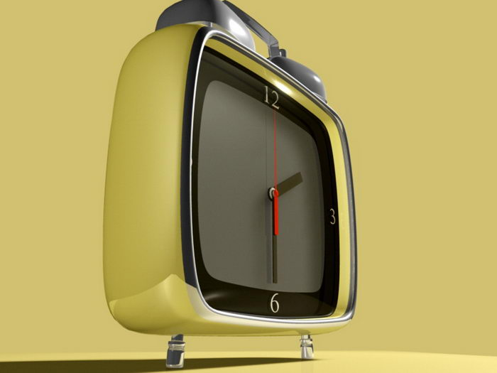 Fashion Alarm Clock 3d rendering