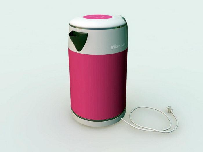 Electric Kettle 3d rendering