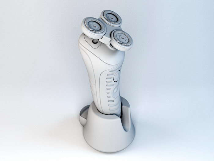 Electric Rotary Razor 3d rendering