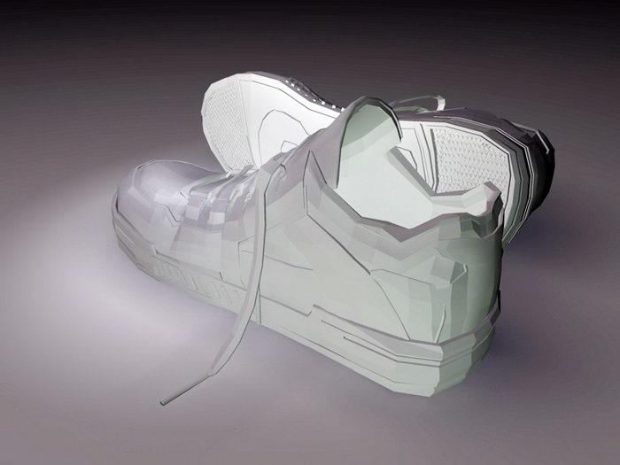 Basketball Sneakers 3d rendering