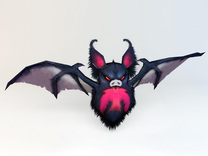 Scary Anime Bat 3d rendering