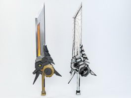 Steampunk Sword 3d preview