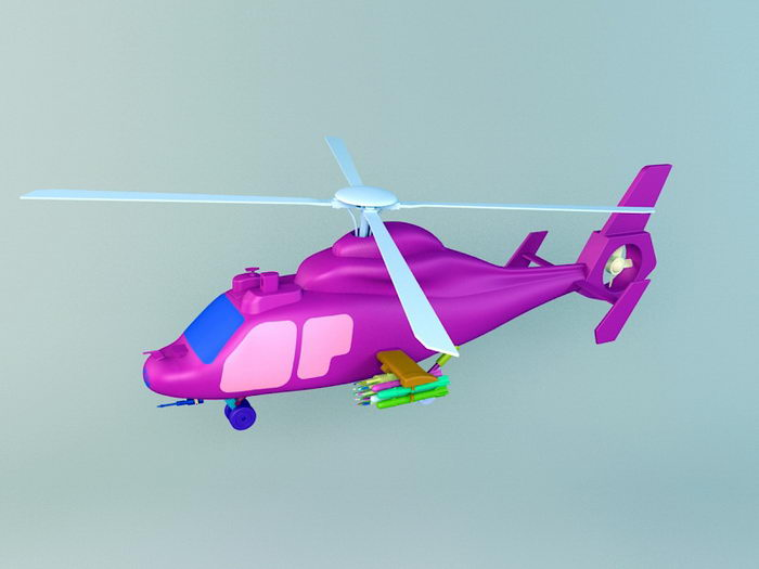 Attack Helicopter 3d rendering