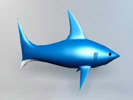Cartoon Shark 3d preview