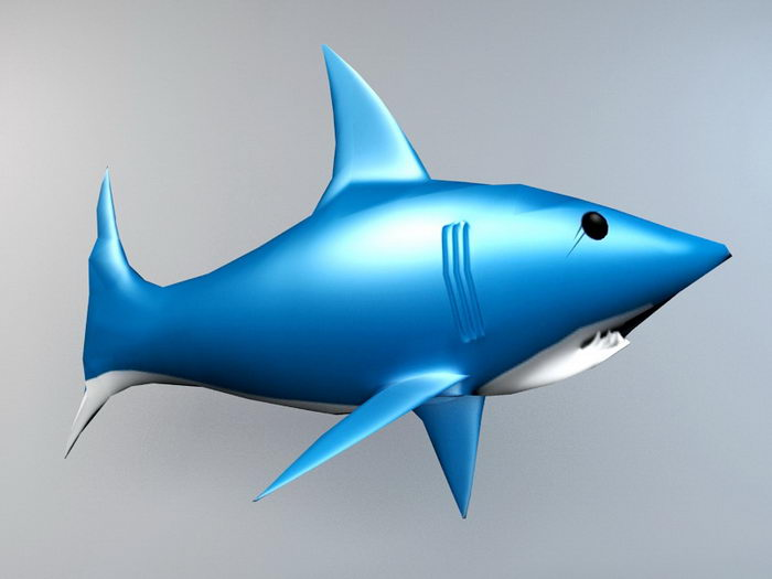 Cartoon Shark 3d rendering
