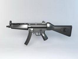 Heckler & Koch MP5 Submachine Gun 3d preview