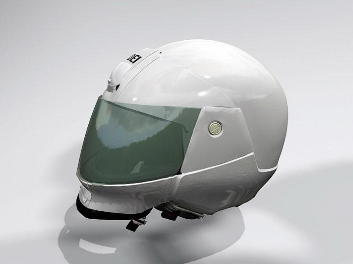 Motorcycle Helmet 3d rendering