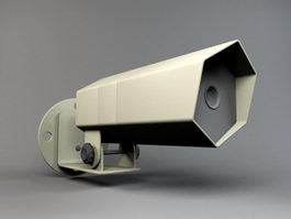 Outdoor CCTV Camera 3d preview