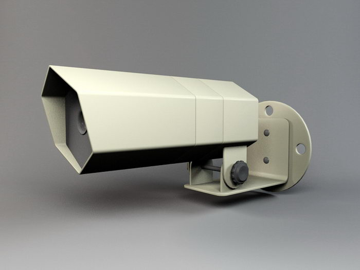 Outdoor CCTV Camera 3d rendering