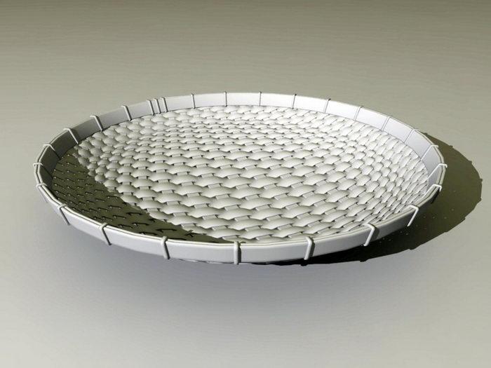 Bamboo Weave Basket 3d rendering