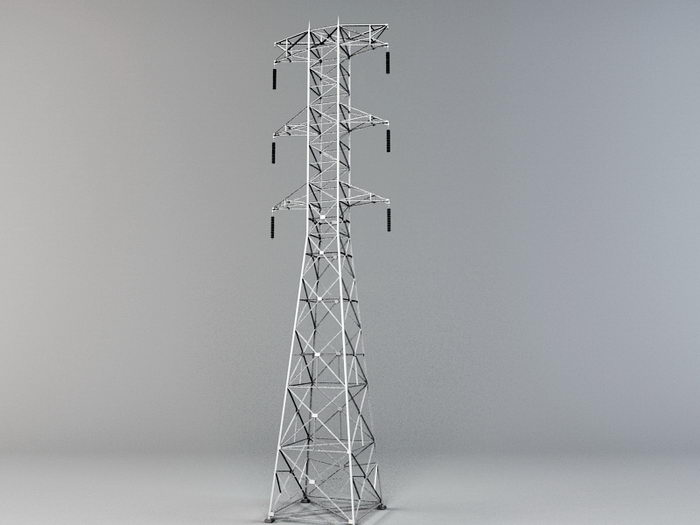 Electricity Pylon Tower 3d rendering