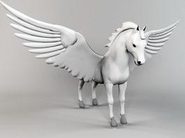 Pegasus Statue 3d preview