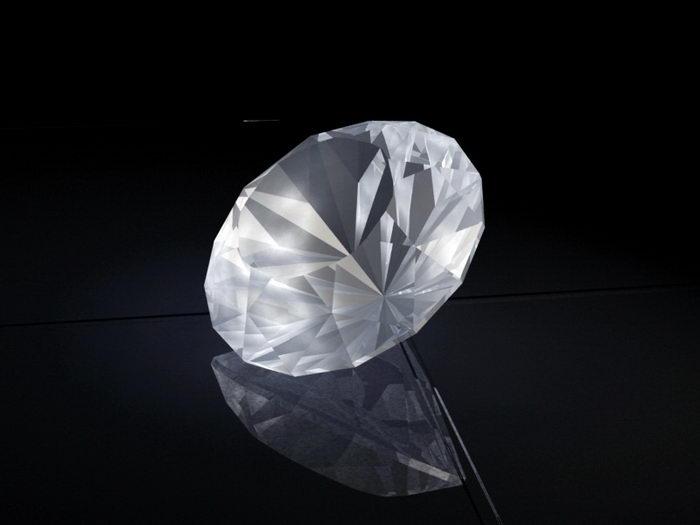 Bright Diamond 3d rendering