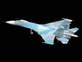 Su-27 Fighter Aircraft 3d preview