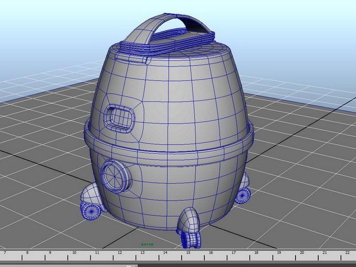 Home Vacuum Cleaner 3d rendering