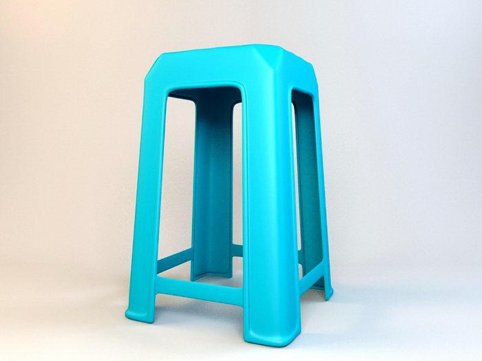 Plastic Stool Seat 3d rendering