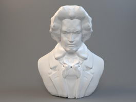 Bust of Beethoven 3d preview