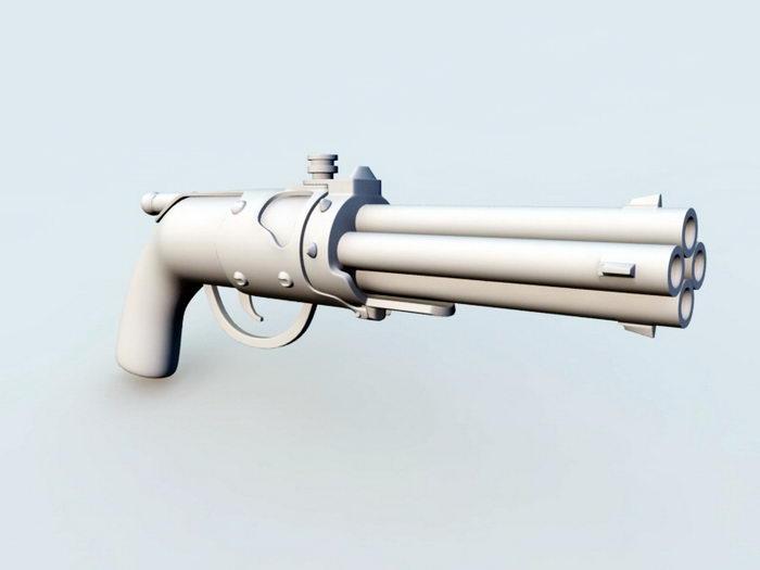 Blunderbuss Pistol 3d rendering