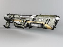 Sci-Fi Shotgun 3d preview