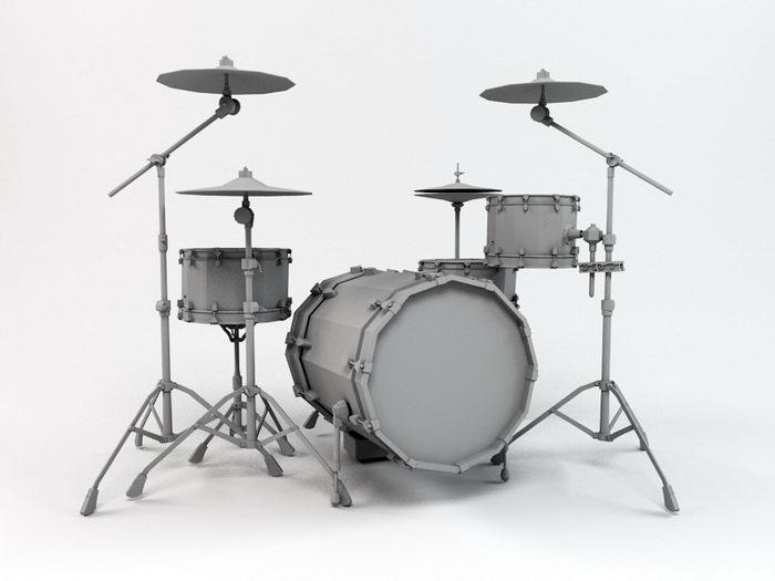 Drum Kit 3d rendering