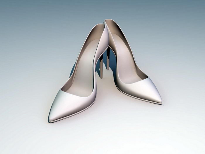 High-heeled Dress Shoes 3d rendering