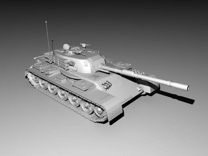 Main Battle Tank 3d rendering