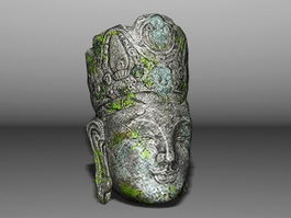 Broken Buddha Head 3d preview