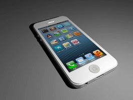 iPhone 5 White 3d preview