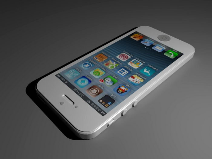 iPhone 5 White 3d rendering