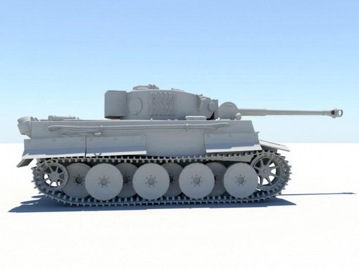 Army Tank 3d rendering