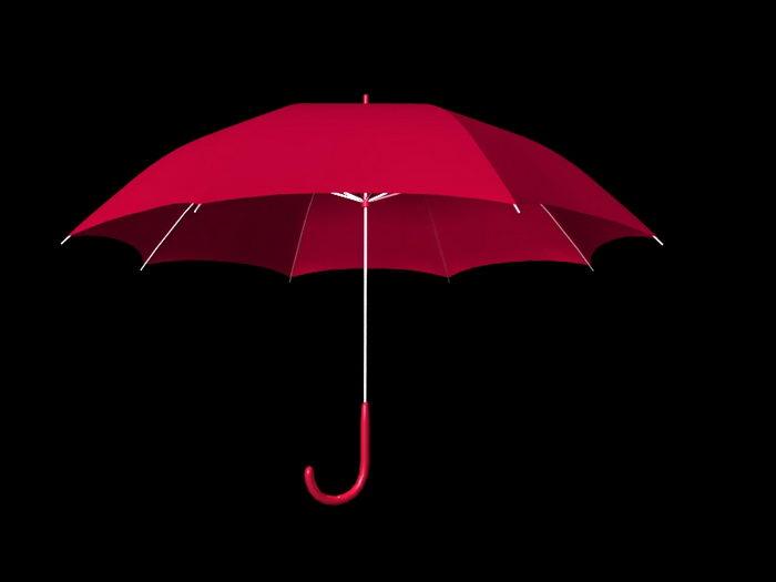 Red Umbrella 3d rendering