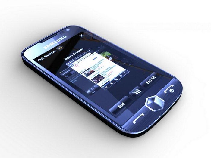 Samsung Omnia II Smartphone 3d rendering