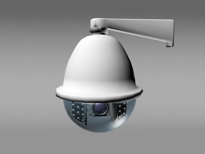 Dome CCTV Camera 3d rendering