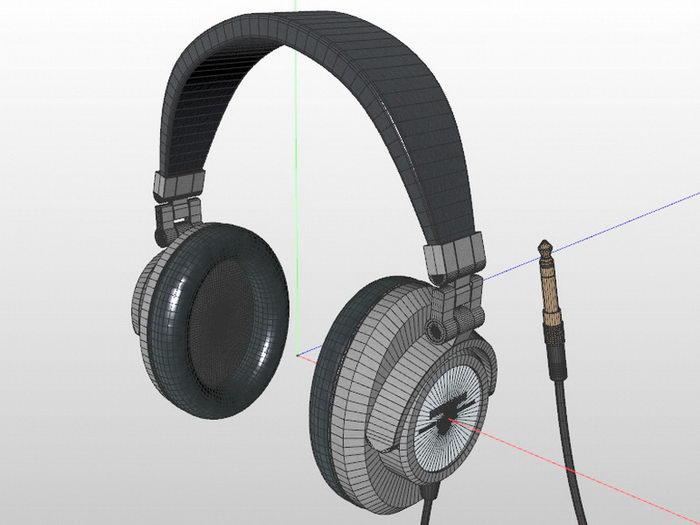 Over-ear Headphones 3d rendering