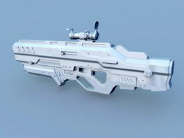 Sci-Fi Combat Rifle 3d preview