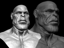 Thanos Head 3d preview