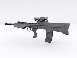 L85 Rifle 3d model preview