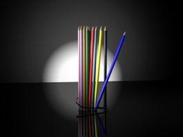 Coloured Pencils 3d preview
