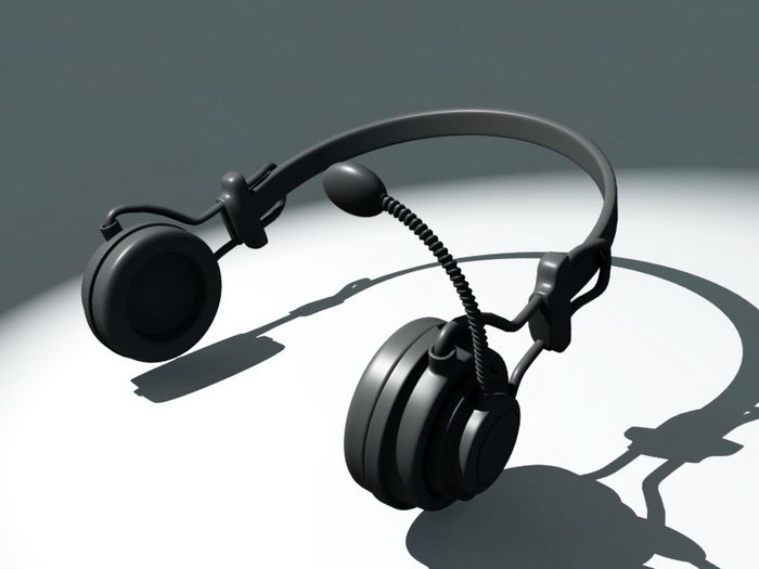 Wireless Headset 3d rendering