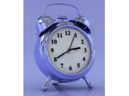 Blue Alarm Clock 3d preview
