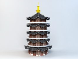 Leifeng Pagoda 3d preview