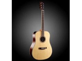 Acoustic Bass Guitar 3d preview