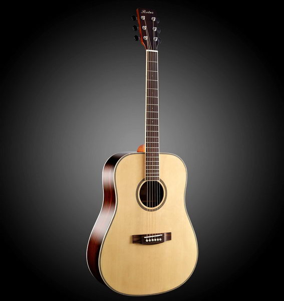 Acoustic Bass Guitar 3d rendering