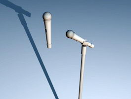 Microphone with Stand 3d preview