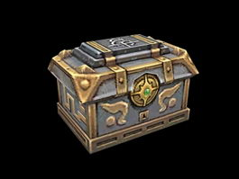 Empty Treasure Chest Animation 3d preview