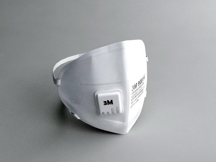 3M Surgical Mask 3d rendering