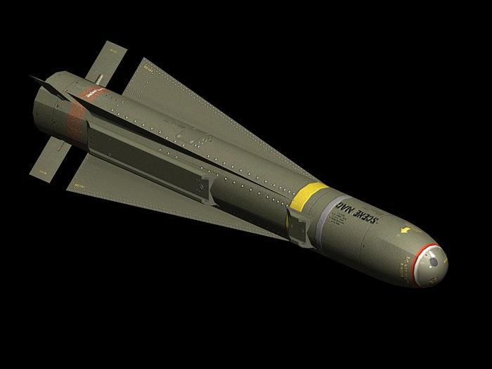 AGM-65 Maverick Missile 3d rendering