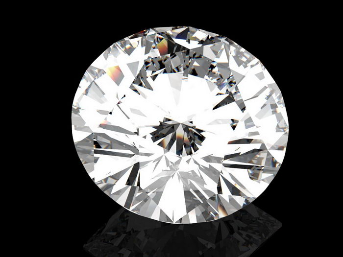 Brilliant Diamond 3d rendering