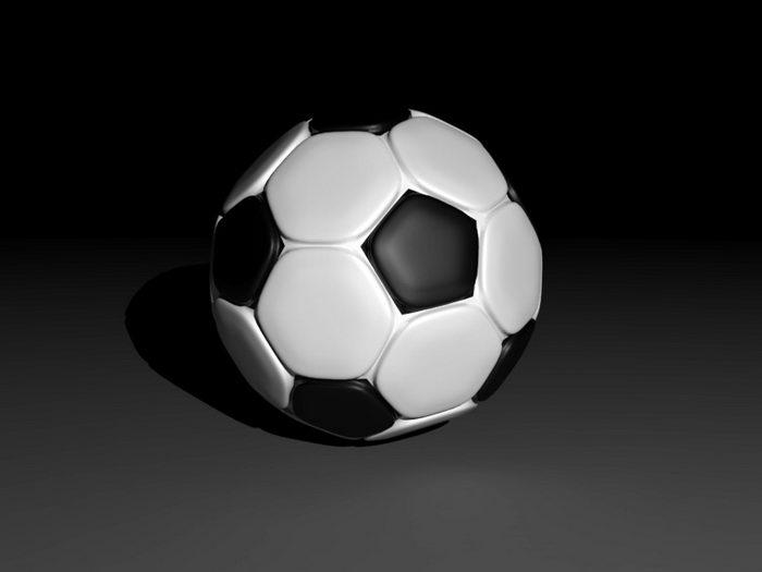 Soccer-ball 3d rendering
