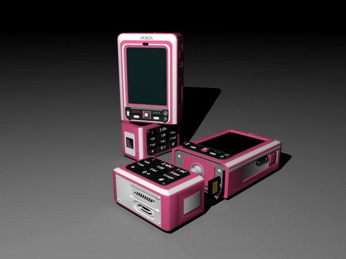 Nokia 3250 Smartphone 3d rendering